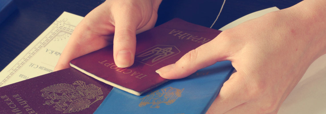 How is a foreign passport translated in Ukraine?